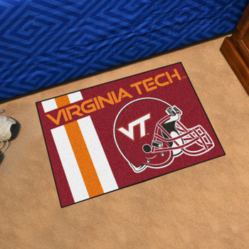"19"" x 30"" Virginia Tech Uniform Maroon Rectangle Starter Mat"