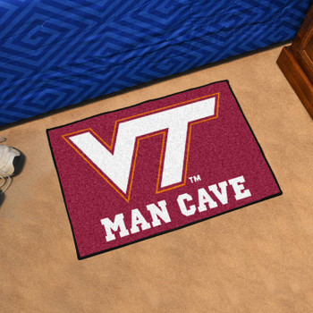 "19"" x 30"" Virginia Tech Man Cave Starter Maroon Rectangle Mat"