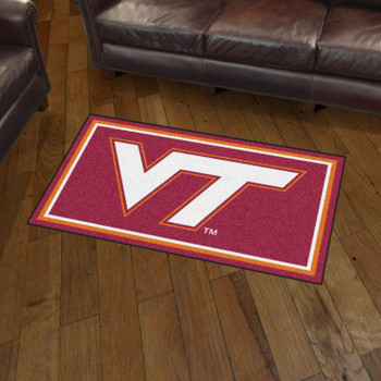3' x 5' Virginia Tech Maroon Rectangle Rug