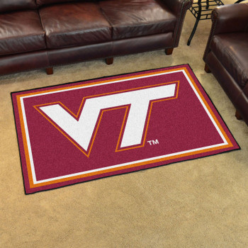 4' x 6' Virginia Tech Maroon Rectangle Rug