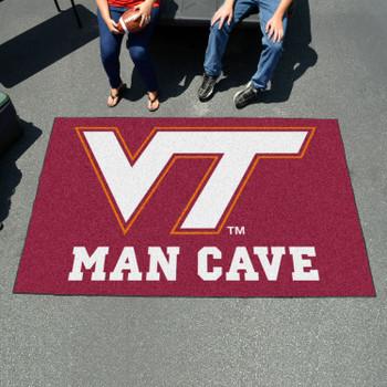 """59.5"""" x 94.5"""" Virginia Tech Man Cave Maroon Rectangle Ulti Mat"""