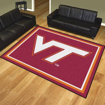 8' x 10' Virginia Tech Maroon Rectangle Rug