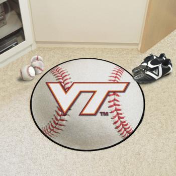 "27"" Virginia Tech Baseball Style Round Mat"