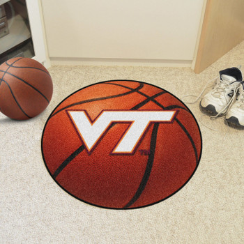 "27"" Virginia Tech Basketball Style Round Mat"