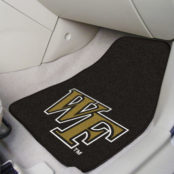 Wake Forest University Black Carpet Car Mat, Set of 2