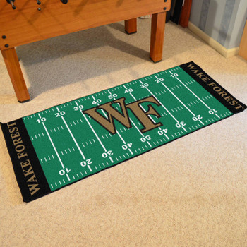 "30"" x 72"" Wake Forest University Football Field Rectangle Runner Mat"
