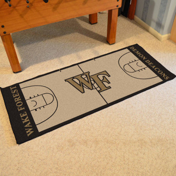 "30"" x 72"" Wake Forest University NCAA Basketball Rectangle Runner Mat"