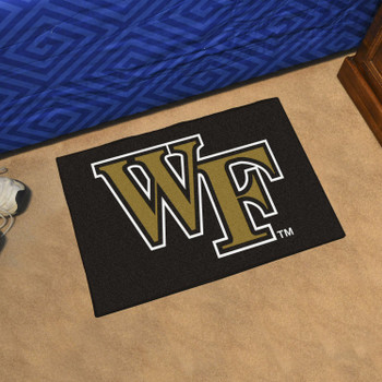 "19"" x 30"" Wake Forest University Black Rectangle Starter Mat"