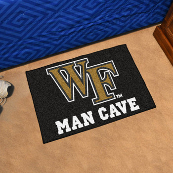 "19"" x 30"" Wake Forest University Man Cave Starter Black Rectangle Mat"