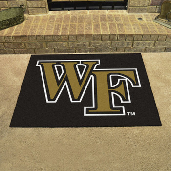 "33.75"" x 42.5"" Wake Forest University All Star Black Rectangle Mat"
