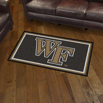 3' x 5' Wake Forest University Black Rectangle Rug