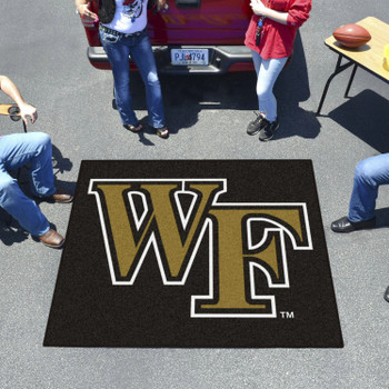 "59.5"" x 71"" Wake Forest University Black Tailgater Mat"