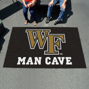 "59.5"" x 94.5"" Wake Forest University Man Cave Black Rectangle Ulti Mat"