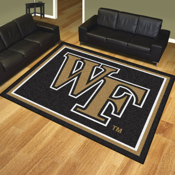 8' x 10' Wake Forest University Black Rectangle Rug