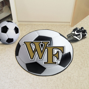 "27"" Wake Forest University Soccer Ball Round Mat"