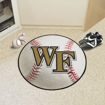 "27"" Wake Forest University Baseball Style Round Mat"