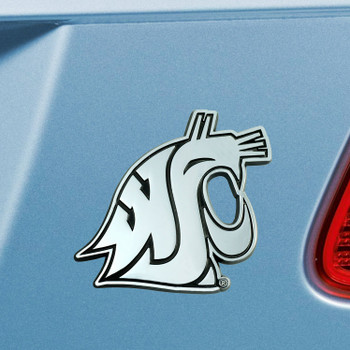 Washington State University Chrome Emblem, Set of 2