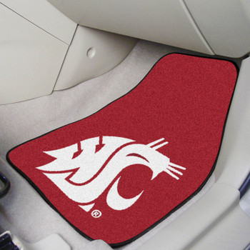 Washington State University Red Carpet Car Mat, Set of 2