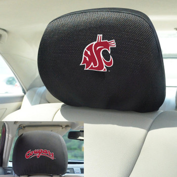 Washington State University Car Headrest Cover, Set of 2