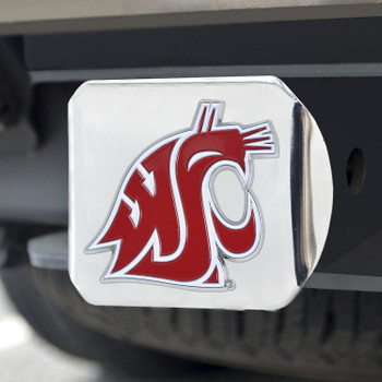 Washington State University Color Hitch Cover - Chrome