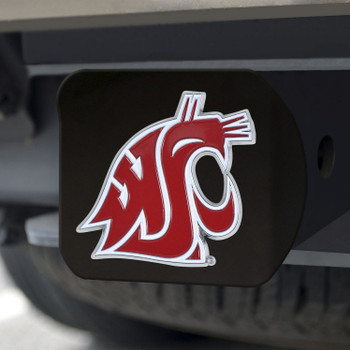 Washington State University Hitch Cover - Color on Black