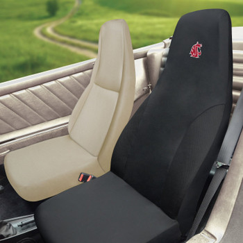 "Washington State University Car Seat Cover - ""WSU Cougar Head"" Logo"