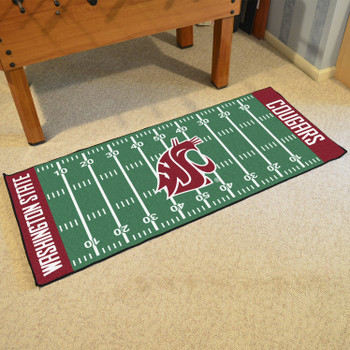 "30"" x 72"" Washington State University Football Field Rectangle Runner Mat"