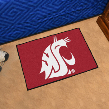 "19"" x 30"" Washington State University Red Rectangle Starter Mat"
