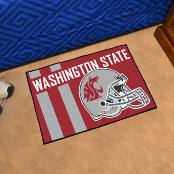 "19"" x 30"" Washington State University Uniform Red Rectangle Starter Mat"