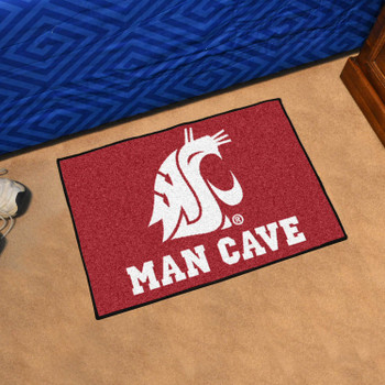 "19"" x 30"" Washington State University Man Cave Starter Red Rectangle Mat"