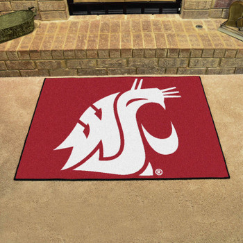 "33.75"" x 42.5"" Washington State University All Star Red Rectangle Mat"