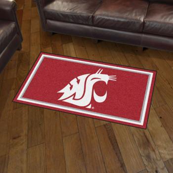 3' x 5' Washington State University Red Rectangle Rug