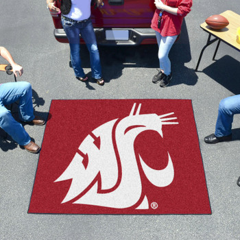 "59.5"" x 71"" Washington State University Red Tailgater Mat"