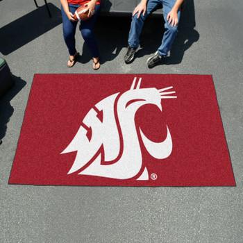 """59.5"""" x 94.5"""" Washington State University Red Rectangle Ulti Mat"""