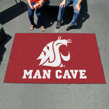 "59.5"" x 94.5"" Washington State University Man Cave Red Rectangle Ulti Mat"