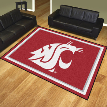 8' x 10' Washington State University Red Rectangle Rug
