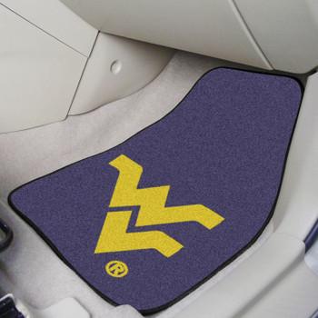 West Virginia University Carpet Car Mat, Set of 2