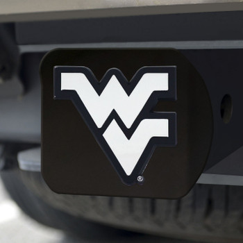 West Virginia University Hitch Cover - Chrome on Black