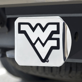 West Virginia University Hitch Cover - Chrome on Chrome