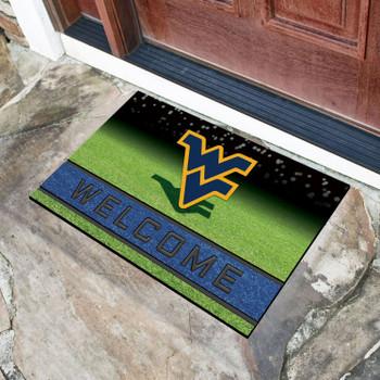 """18"""" x 30"""" West Virginia University Crumb Rubber Door Mat"""
