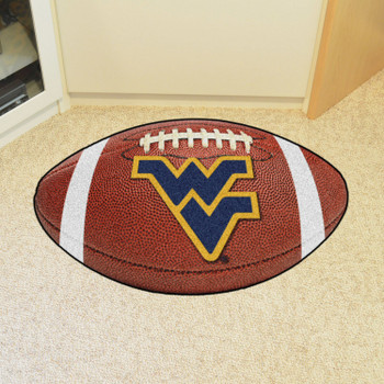 "20.5"" x 32.5"" West Virginia University Football Shape Mat"