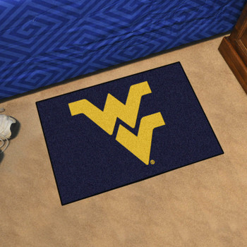 "19"" x 30"" West Virginia University Navy Blue Rectangle Starter Mat"