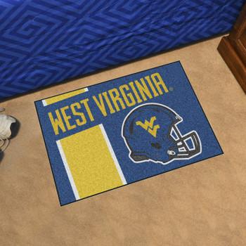 """19"""" x 30"""" West Virginia University Uniform Navy Blue Rectangle Starter Mat"""
