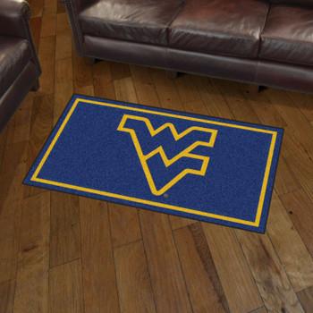 3' x 5' West Virginia University Blue Rectangle Rug