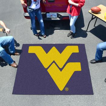 "59.5"" x 71"" West Virginia University Navy Blue Tailgater Mat"