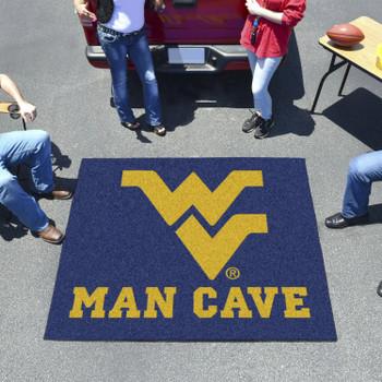 "59.5"" x 71"" West Virginia University Man Cave Tailgater Navy Blue Rectangle Mat"