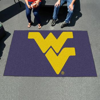"59.5"" x 94.5"" West Virginia University Navy Blue Rectangle Ulti Mat"