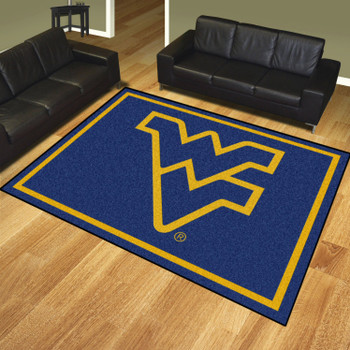 8' x 10' West Virginia University Navy Blue Rectangle Rug