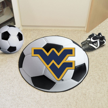 "27"" West Virginia University Soccer Ball Round Mat"