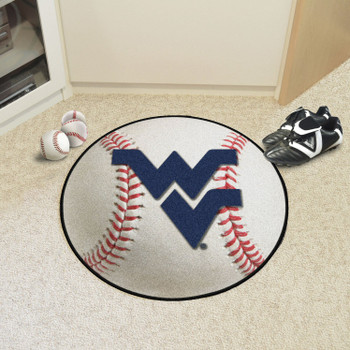 "27"" West Virginia University Baseball Style Round Mat"